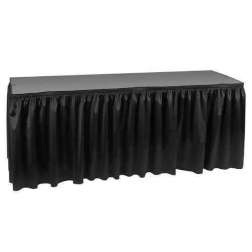 Black Table Skirt Ebay