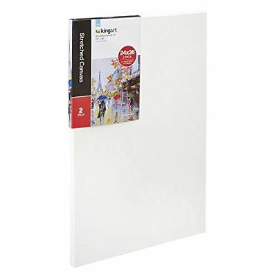 KINGART 24 x 36 2-Pack Stretched Canvas White 2 Piece