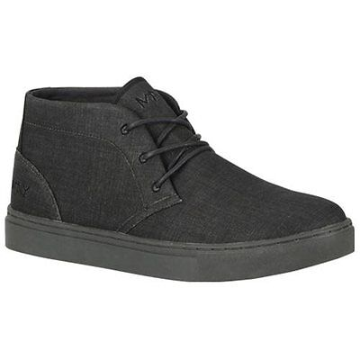 Andrew Marc Mens Wythe Canvas Chukka Fashion Sneaker Charcoal/ Black Size 11.5 D