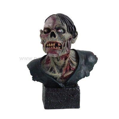 ZOMBIE BUST FIGURINE APOCALYPSE WALKING DEAD STATUE HORROR HALLOWEEN DECORATIVE - Zombie Apocalypse Halloween Decorations