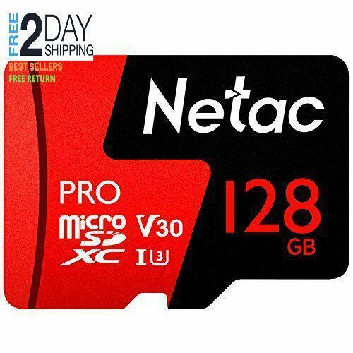128GB Micro SD Memory Card - Netac P500 PRO V30 UHS-I U3 Hig