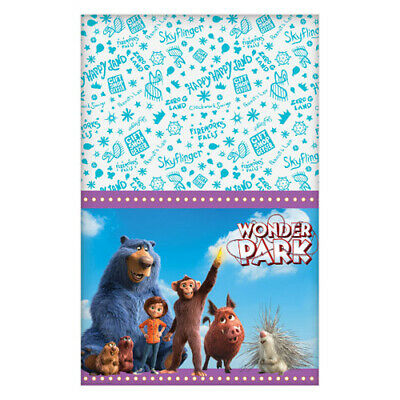 WONDER PARK PAPER TABLE COVER ~ Birthday Party Supplies Cloth Decoration Movie