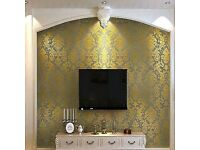 DJH DECORS, highest standard guaranteed at cooperative rates, with wallpapering being a speciality