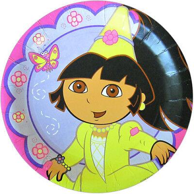 DORA THE EXPLORER Princess LARGE PAPER PLATES (8) ~ Birthday Party Supplies - Dora Party Supplies