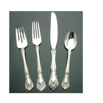 (Chateau Rose by Alvin Sterling Silver - 4 piece Place Setting Modern Knife)