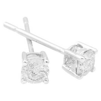 1/3 CT. T.W. Diamond Solitaire Stud Earrings in 10kt – White Gold