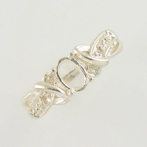 PRE-NOTCHED 6X4 OVAL SOLITAIRE RING .925 STERLING SILVER SIZES 5-9 CR5185SS