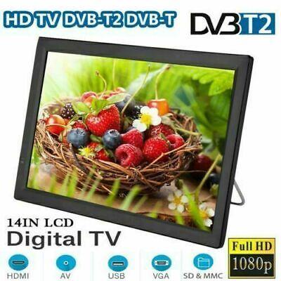 "14"" Mini 16:9 1080P Digital TV Television Video Player TFT-LED USB/AV/HDMI"
