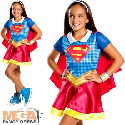 Supergirl Girls Age 3-10 Fancy Dress Book Day Superhero Kids Childrens Costume - Supergirl Girls Costume