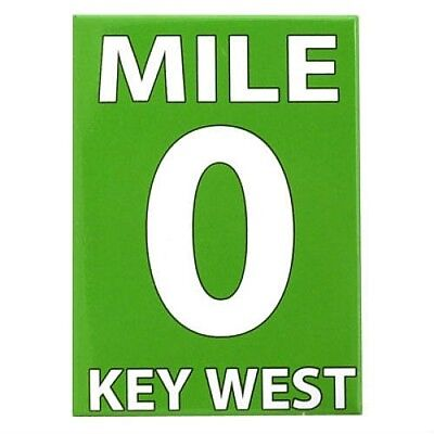 "Used, KEY WEST FLORIDA ZERO MILE FRIDGE COLLECTOR'S SOUVENIR MAGNET 2.5"" X 3.5""  for sale  Shipping to Canada"