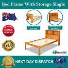 Unbranded Pine Storage Bed Frames