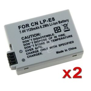 2 batteries for Canon T2i