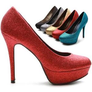 52a077275165 Womens Red Glitter Shoes