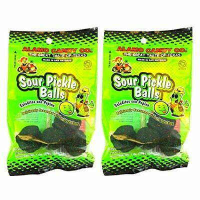 Alamo Candy Sour Pickle Balls, 1 Oz (Pack of 2)