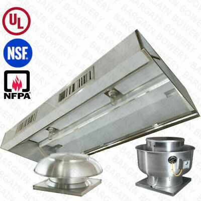 8 Ft Ul Restaurant Commercial Kitchen Makeup Air Hood Captiveaire System