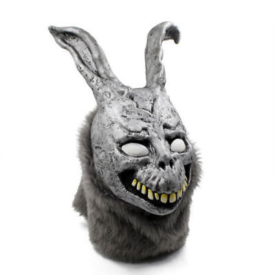 Donnie Darko FRANK Rabbit Mask Halloween Party the Bunny Latex with Fur Mask USA - Donnie Darko Halloween Party