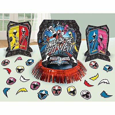 Power Ranger Decorations (POWER RANGER NINJA STEEL Table Decorating Kit 23 Piece Centerpiece Party)