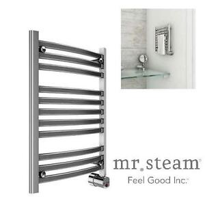 NEW MR. STEAM TOWEL HEATER 8-BAR WALL MOUNTED ELECTRIC TOWEL WARMER IN POLISHED CHROME 111400211