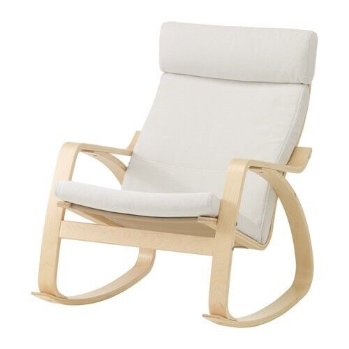 Rocking chair white Poang ikea