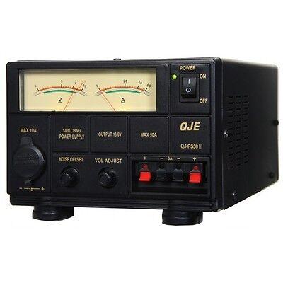 QJE QJ-PS50II 50 52 AMP POWER SUPPLY PSU sps maas Ham Radio UK PLUG