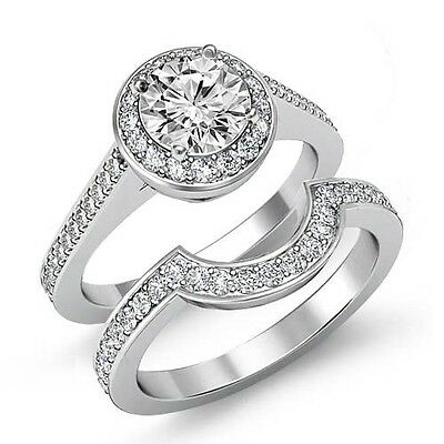 2.37ct Round Cut Diamond Bridal Set Engagement Filigree Ring GIA F VS2 Platinum