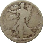 Walking Liberty Half Dollar 1917-D Obverse