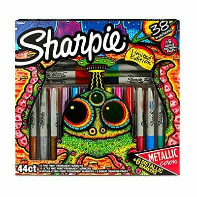 Sharpie Limited Edition Markers 44ct With 6 Metaliic Colors And 6 Coloring Pages