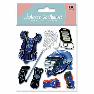 Scrapbooking Crafts Stickers Jolee's La Crosse Lacrosse Net Helmet Gloves Pads