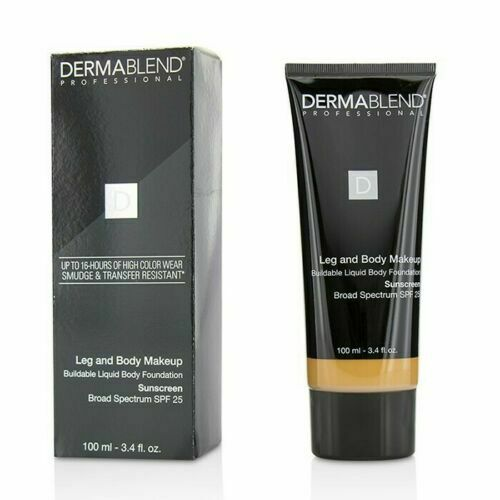 DERMABLEND Leg and Body Makeup Liquid Body Foundation MED BRONZE 45N ~ 3.4 fl oz