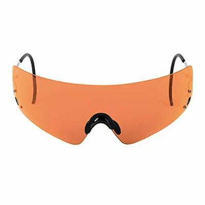 BEST Protective Shooting Glasses w/ Wide Orange Lenses & Comfortable Nose (Wide Nose Glasses)