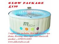 3 nights Hot tub hire packages in Dudley, Stourbridge and local areas..
