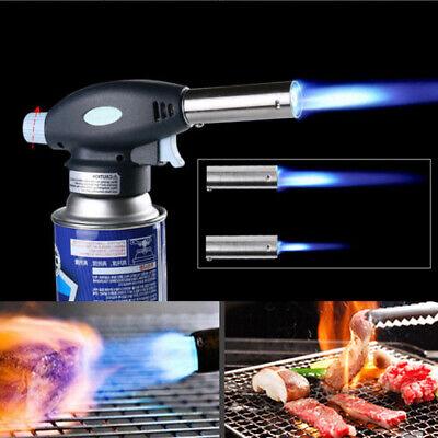 Blow Torch Butane Gas Flamethrower Burner Welding Auto Ignition Soldering BBQ