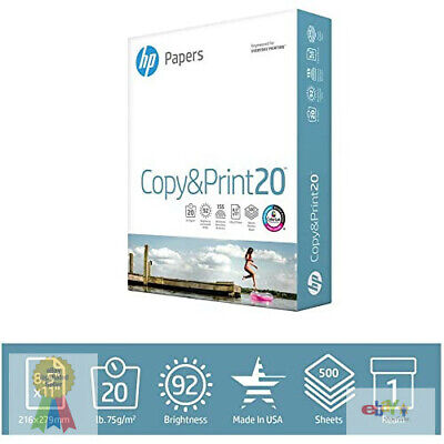 Hp Printer Paper Copyprint 20 8.5 X 11 1 Ream 500 Sheets Made In Usa 92 Bright