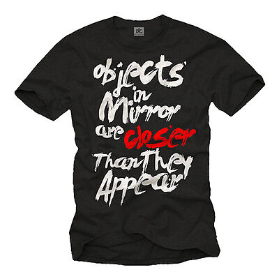 CAR DRIVER MENS T SHIRT WITH FUNNY SAYING OBJECTS IN MIRROR - SHORT SLEEVE (Driver Short Sleeve Tee)