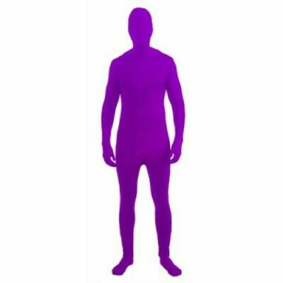 Forum Novelties I'm Invisible Costume Stretch Body Suit, Neon Purple, Child L - Invisible Costume