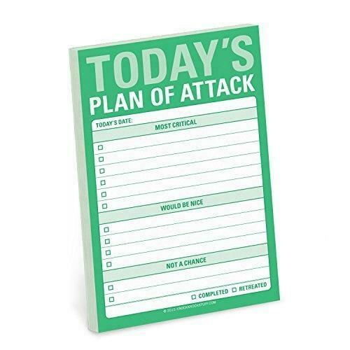 Knock Plan of Attack Great Big Sticky Note, Daily 4 x 6-inches,