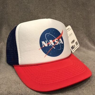 Nasa Truckerhut USA Fach Programm Alt Logo Retro Baseball Kappe Rwb 2190 - Usa Trucker Hut