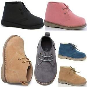 GIRLS-BOYS-DESERT-BOOTS-INFANTS-HI-TOPS-TRAINERS-BIKER-RIDING-FASHION-SHOES-SIZE