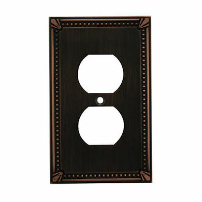 oil rubbed bronze single duplex wall plate
