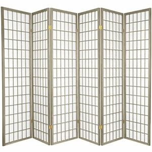 Oriental Furniture 6-Feet Window Pane Japanese Shoji Folding