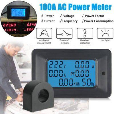 100a Digital Watt Kwh Current Power Energy Meter Ammeter Voltmeter Ac 110v-250v