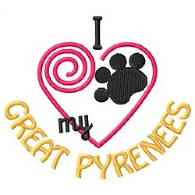 "I ""Heart"" My Great Pyrenees Sweatshirt 1437-2 Sizes S - XXL"