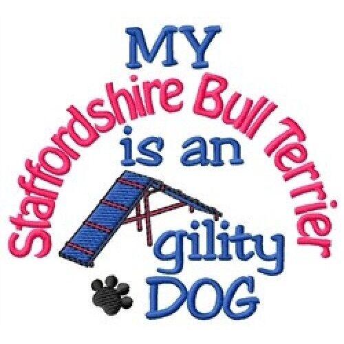 My Staffordshire Bull Terrier is An Agility Dog Fleece Jacket - DC1984L