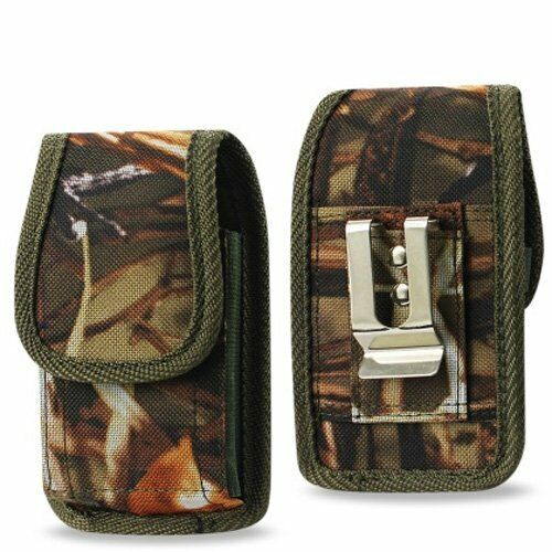 Camouflage Rugged Metal Clip Case fits Doro 7050 Flip Phone