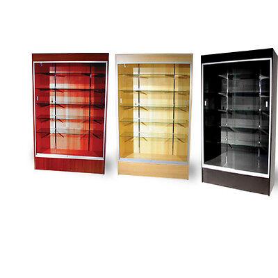 "Wall Glass Display Case Showcase w/ Light 78"" - Maple NEW YORK PICKUP"