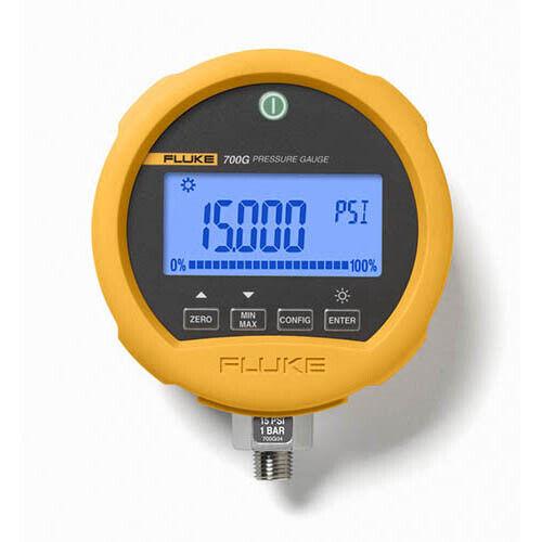 Fluke 700G04 Precision Pressure Test Gauge, -14 to 15 psi, 1 bar