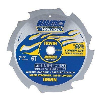Irwin Tools6-tooth Weldtec Corded Circular Fiber Cement Saw Blade 7-14