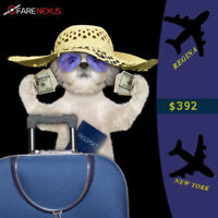 Book your Return flight from Regina - New York $392