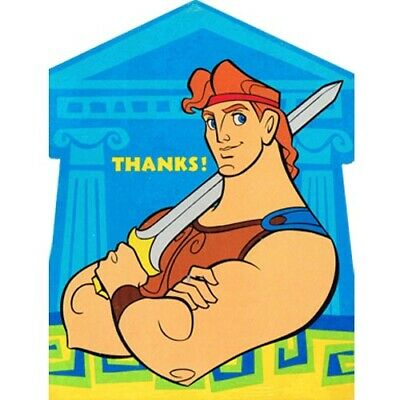HERCULES THANK YOU NOTES (8) ~ Vintage Birthday Party Supplies Disney Stationery](Thank You Stationery)