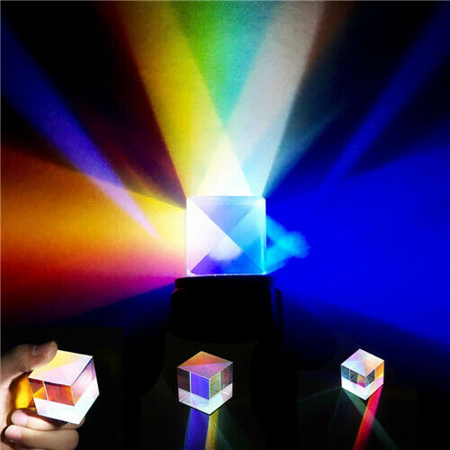 1PC Large Defective Dichroic Cube Optical Glass Prism for DIY Decoration Physics